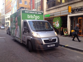 Bibigo promotional restaurant unit in London