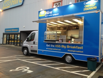 HSS Hire branded catering van
