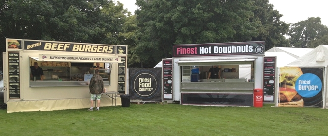 Beef Burger and Hot doughnut van caterers