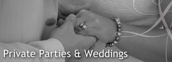 Parties and wedding catering header