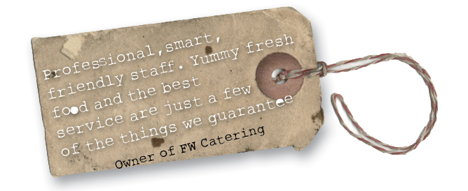 Event catering guarantee
